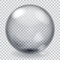 Transparent glass sphere with scratches roughness glares and shadow Stock Images