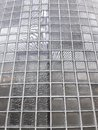 Transparent glass wall in modern building Royalty Free Stock Photo