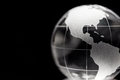 Transparent globe with black background Royalty Free Stock Photo