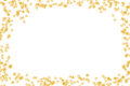 Transparent glowing ivy leaf yellow cream-colored frame congratulations to the light-weight air Royalty Free Stock Photo