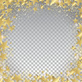 Transparent gold stars background Royalty Free Stock Photo