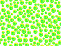 Transparent green spheres on white background Royalty Free Stock Photo