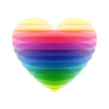 Transparent heart illustration on white Royalty Free Stock Photo