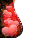 Transparent hearts.  Valentines Day postcard Stock Image