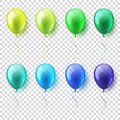 Transparent Isolated Realistic Colorful Glossy Flying Air Balloons set. Birthday party. Ribbon.Celebration. Wedding or