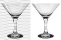 Transparent and opaque realistic martini glasses empty Royalty Free Stock Images