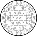 Transparent rounded puzzle Stock Photos