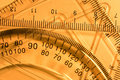 Transparent rulers and protractors Royalty Free Stock Photo