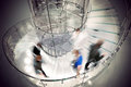 Transparent spiral staircase Stock Image