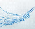 Transparent water splashes, drops isolated on transparent background. Vector illustration