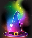 Transparent witch hat Stock Images