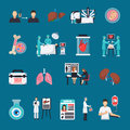 Transplantation Decorative Icons Set