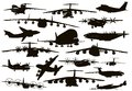 Transport aviation aircraft silhouettes collection vector eps Stock Image