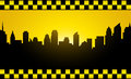 Transport background evening city silhouette taxi stripe Stock Images