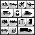 Transport black icons Royalty Free Stock Photo