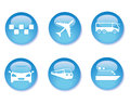 Transport buttons Royalty Free Stock Photos