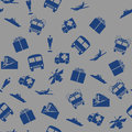 Transport and communication seamless pattern with objects Stock Photo
