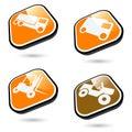 Transport de boutons Photos stock