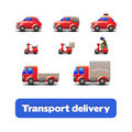 Transport Delivery Web Icons Royalty Free Stock Images