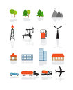 Transport and ecology icons Royalty Free Stock Image