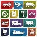 Transport flat icon-02 Royalty Free Stock Photo