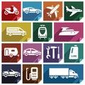 Transport flat icon-09 Royalty Free Stock Photo