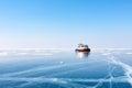 Transport On Ice. Ice On Lake ...
