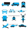 Transport icon set of travel related Stock Images