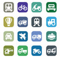 Transport icons Stock Images