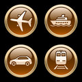 Transport icons / buttons 2 Royalty Free Stock Photo
