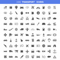 Transport icons collection of a vector illustration Royalty Free Stock Image
