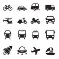 Transport icons this is file in eps format Stock Photography