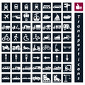 Transport icons isolated vector illustrations Stock Images