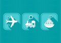 Transport icons modern means of with flat design Royalty Free Stock Photos