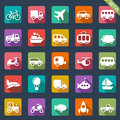 Transport icons set of Royalty Free Stock Photography