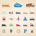 Transport icons set of colored Royalty Free Stock Image