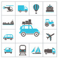 Transport icons set for you design Stock Photo