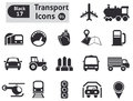 Transport icons vector set for you design Royalty Free Stock Photography