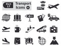 Transport icons vector set for you design Stock Photos