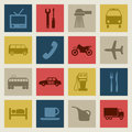 Transport icons2 Images libres de droits
