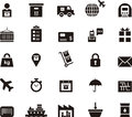 Transport, logistics and shipping icons Royalty Free Stock Photo