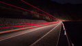 Transport movement lights of a truck or a car driving fast Royalty Free Stock Photo