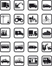 Transport occupation icons Royalty Free Stock Photo