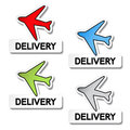 Transport pointers - airplane delivery Royalty Free Stock Photography