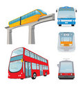 Transport set Stock Photography