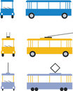 Transport set color 01 Royalty Free Stock Photography