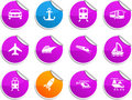 Transport stickers. Stock Photos