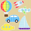 Transport stickers Stock Images