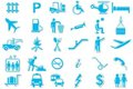 Transport Symbol Icon Set Stock Photography