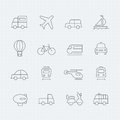 Transport thin line symbol icon vector Stock Photo